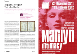 MARILYN: INTIMAcY Todo sobre Marilyn