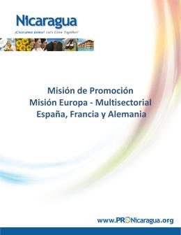 Misión Pro Nicaragua a España el 14 de noviembre, en Madrid