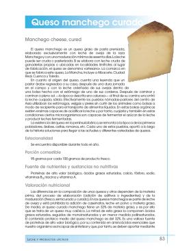 Queso manchego curado - Fundación Española de la Nutrición