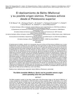 El deslizamiento de Bàlitx (Mallorca) y su posible origen sísmico