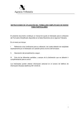 manual de utilización del formulario simplificado