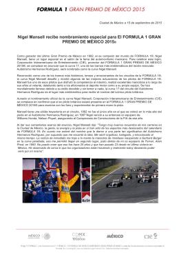 Nigel Mansell NombramientoF1