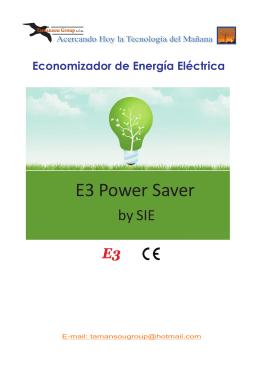 Economizador de Energía Eléctrica