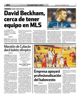 david Beckham, cerca de tener equipo en MLS