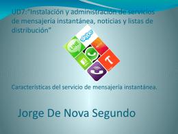 mensajería instantánea - Sistemas de Red e Información