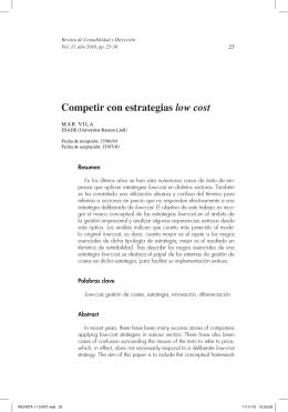 Competir con estrategias low cost