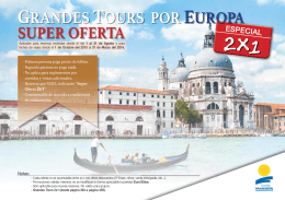 GRANDES TOURS POR EUROPA SUPER OFERTA