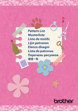 Pattern List Musterliste Liste de motifs Lijst patronen Elenco disegni