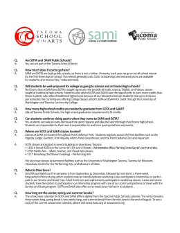 SOTA SAMi FAQ`s - Tacoma Public Schools