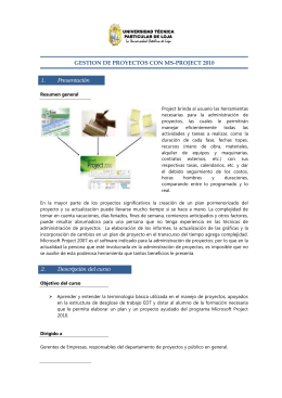 GESTION DE PROYECTOS CON MS