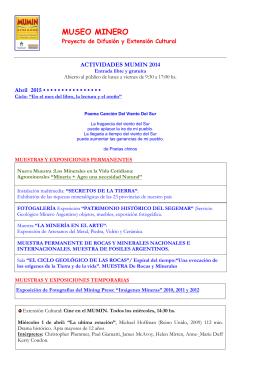 MUSEO MINERO - Revista CERAMICA