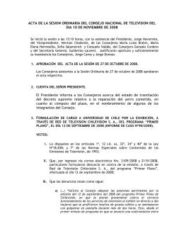 ACTA DE LA SESION ORDINARIA DEL CONSEJO