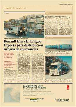 Renault lanza la Kangoo Express para distribución urbana de