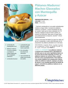 Plátanos Maduros/ Machos Glaseados con