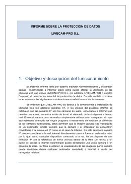 1.- Objetivo y descripción del funcionamiento
