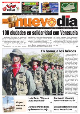 100 ciudades en solidaridad con Venezuela