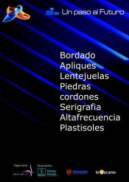 Bordado Apliques Lentejuelas Piedras cordones Serigrafia
