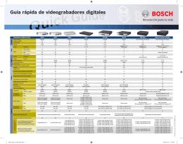 Guía rápida de videograbadores digitales