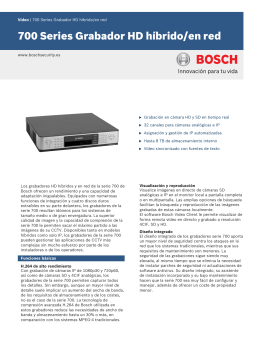 Datos - Bosch Security Systems