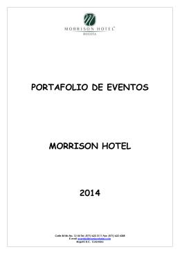 PORTAFOLIO DE EVENTOS MORRISON HOTEL 2014