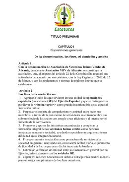 Estatutos - Veteranos Boinas Verdes de Alicante