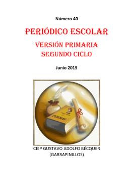periódico primaria 2º ciclo 2015 - CEIP Gustavo Adolfo Becquer