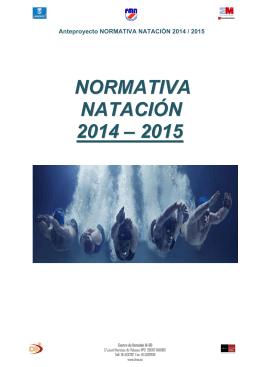 NORMATIVA NATACIÓN 2014 – 2015