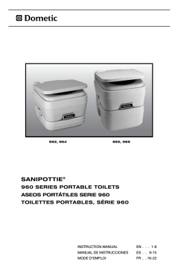 600340798 SaniPottie 960 series portable toilet manual
