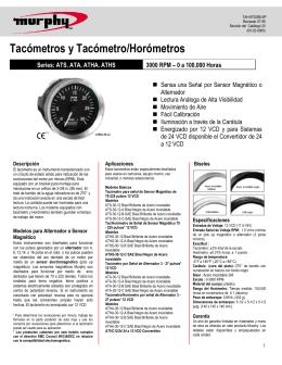 Tacómetros y Tacómetro/Horómetros