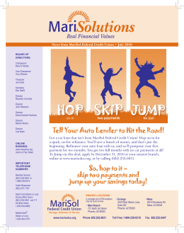 HOP SKIP JUMP - MariSol Federal Credit Union