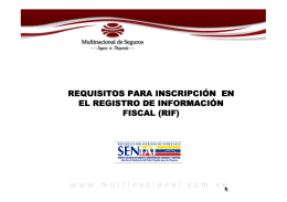 Requisitos para Inscripción