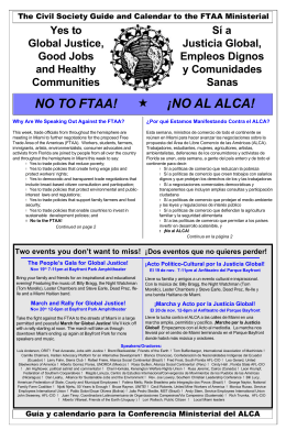 NO TO FTAA! ¡NO AL ALCA!
