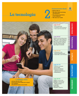 La tecnología - Vista Higher Learning