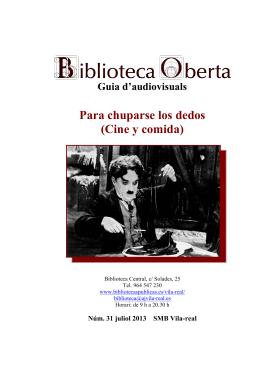 31. Para chuparse los dedos (Cine y comida) - Ajuntament de Vila-real