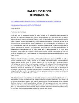 RAFAEL ESCALONA ICONOGRAFIA - Fundación Cultura Vallenata