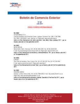Boletín de Comercio Exterior - La Cámara de Comercio de Quito