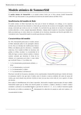 PDF Modelo atómico de Sommerfeld