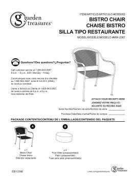 bistro chair chaise bistro silla tipo restaurante