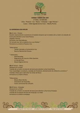 DUNAS Y ANDES DEL SUR 17 DÍAS / 16
