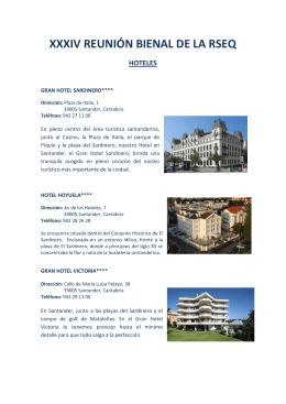 xxxiv reunión bienal de la rseq hoteles