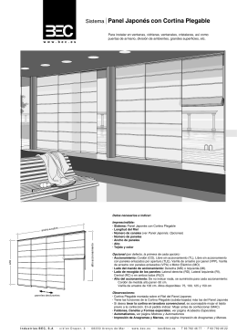 Panel Japonés con Cortinas Plegables