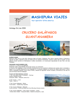 crucero galápagos guantanamera