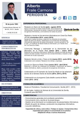 CV - Alberto Fraile Carmona – PERIODISTA