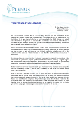 TRASTORNOS EYACULATORIOS
