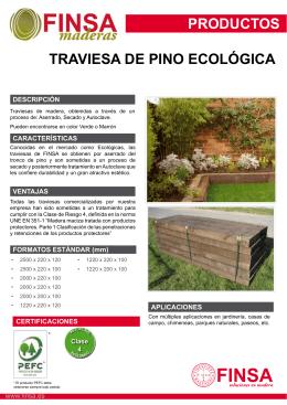 PRODUCTOS TRAVIESA DE PINO ECOLÓGICA