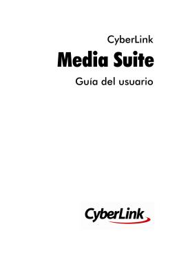 Programas de CyberLink Media Suite