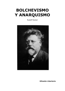 BOLCHEVISMO Y ANARQUISMO