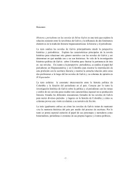 Resumen: Historia y periodismo en las novelas de - SAS