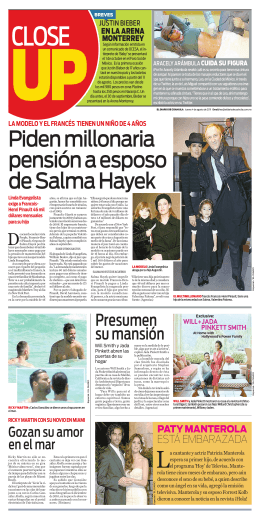 Piden millonaria pensión a esposo de Salma Hayek