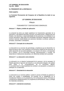 Ley N°28044 - Ministerio de Educación del Perú